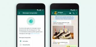 Mensajes temporales Whatsapp - federadiove
