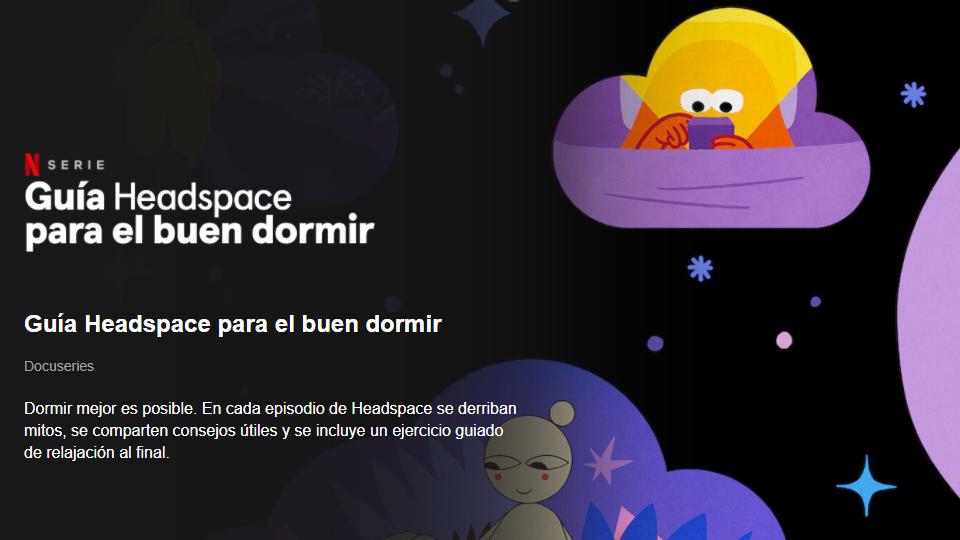 Netflix Guía Headspace para el buen dormir